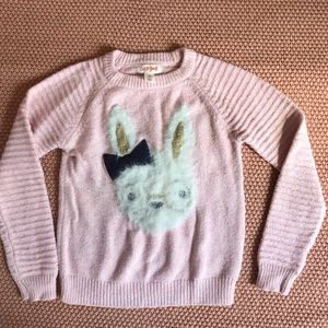 Cat & Jack 4t pink bunny sweater